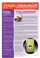La lettre énergie communiste N° 10 - Octobre 2011