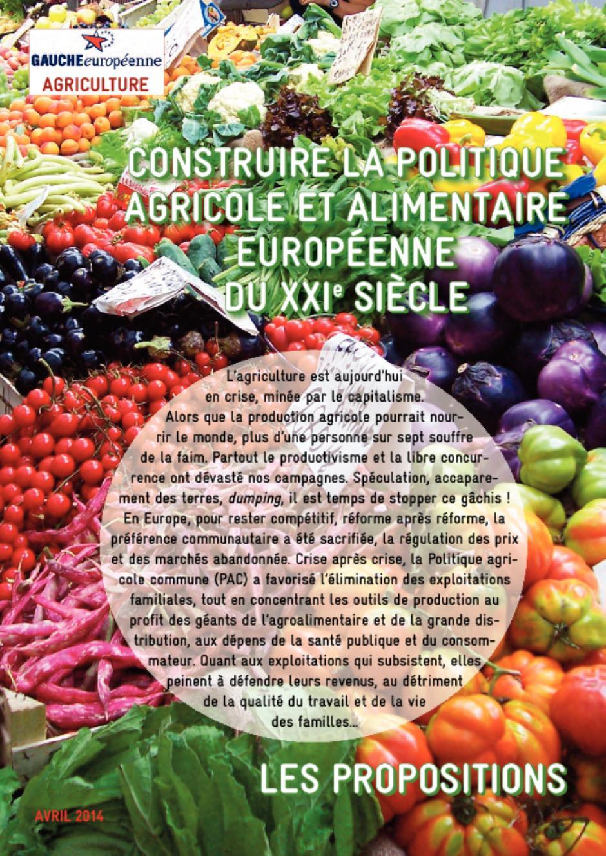 Construire la politique agricole et agroalimentaire européenne du XXIème siècle